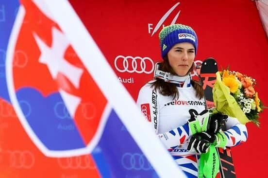 Petra Vlhová - víťazka slalomu Svetového pohára v Lenzerheide 2018
