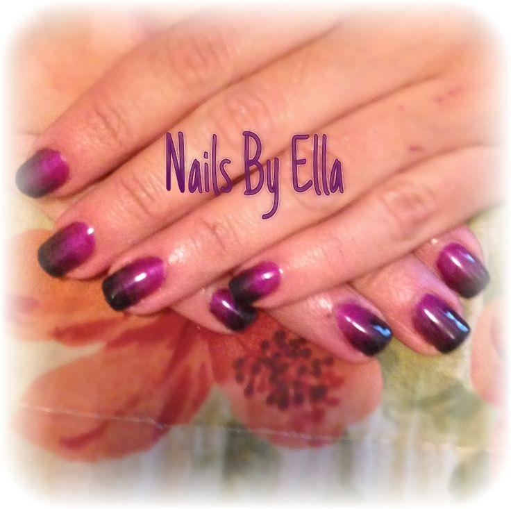 Ombre Nails With Gel Nail Pólish
