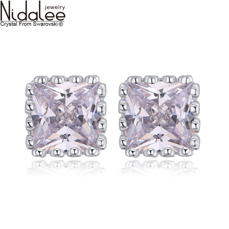 Find More Stud Earrings Information about 2016 New 925 Sterling Silver Earrings For Women Square Zircon Stud Earrings High Quality Fashion Noble Jewelry Accessories S1445,High Quality earrings for baby girls,China earrings mask Suppliers, Cheap earring stand from NIDALEE JEWELRY Co., Ltd. on Aliexpress.com