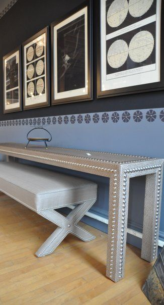 I Want Nailhead Trim On Everything! I Know I Can Diy This Custom Console  Table