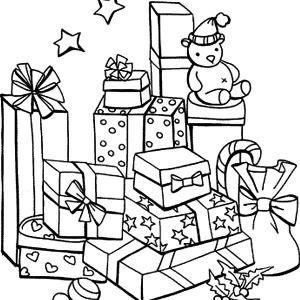 christmas presents mountain of christmas presents coloring pages mountain of christmas presents coloring pages - Christmas Presents Coloring Pages