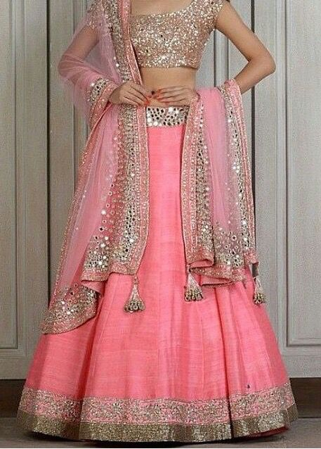 Mirror work lehenga for sagan
