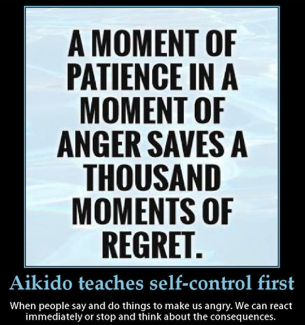 Aikido will help you deal with whatever is inside you. To eliminate the fear, anger and lack of control and bring you to a state of being imperturbable. Take the time a check out our classes.