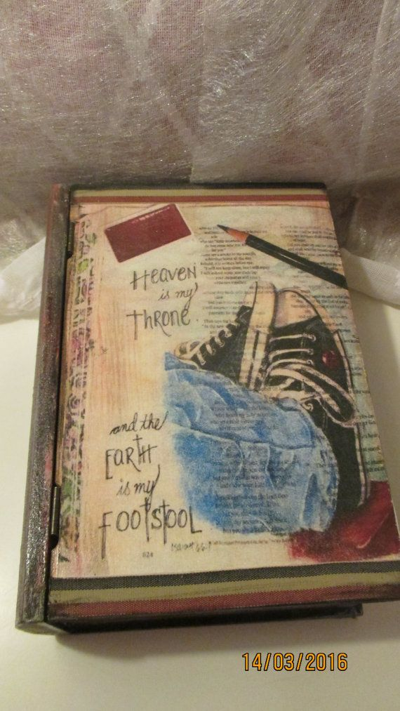 Wooden book box: The best days in lifetime  by LettersFromHelen