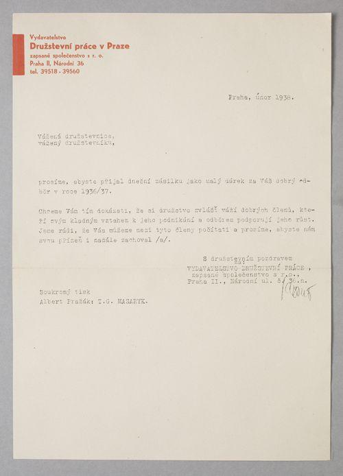 Sutnar letterhead