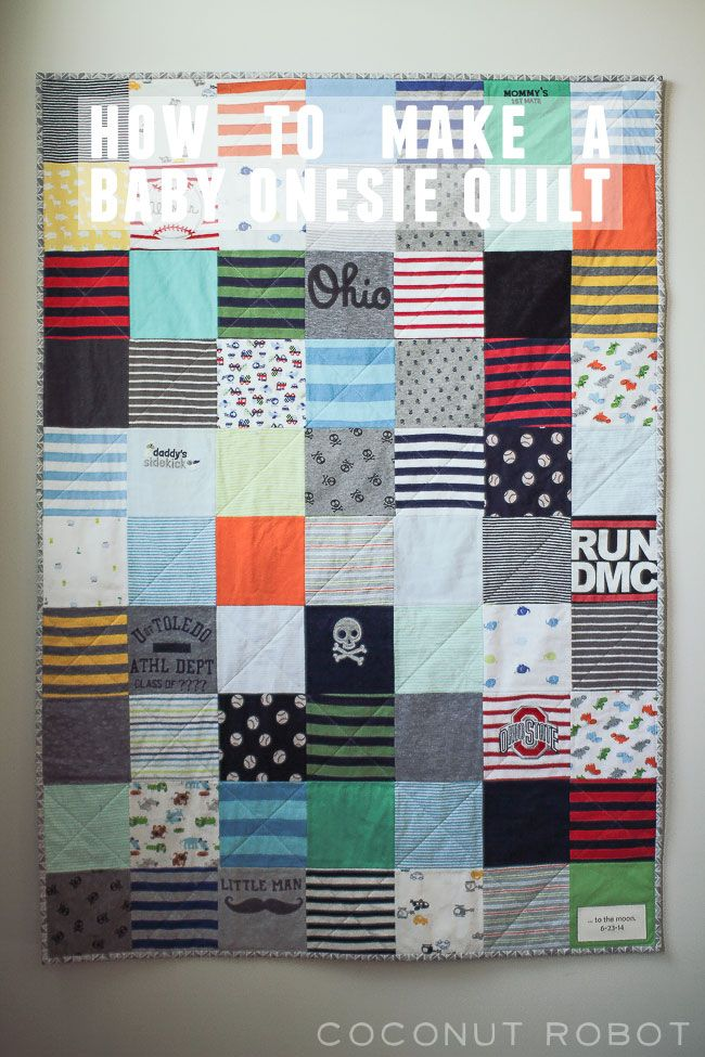 How to make a baby onsie quilt. @coconutrobotkac