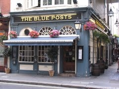 The Blue Posts. One of the few remaining local pub in West End. Picadilly Circus tube stop