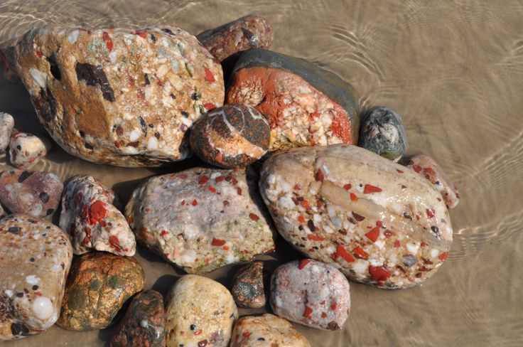 Puddingstone from Drummond Island, MI.  Pudding stones can be found all ove Michigan....they are cool