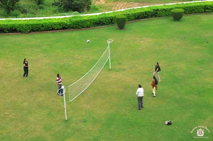 Indulge in #outdoor #volleyball games while being surrounded by the #beautiful #Aravallis at #BalaramPalaceResort. We have enough space for #indoor and outdoor group #activities for children and adults alike.