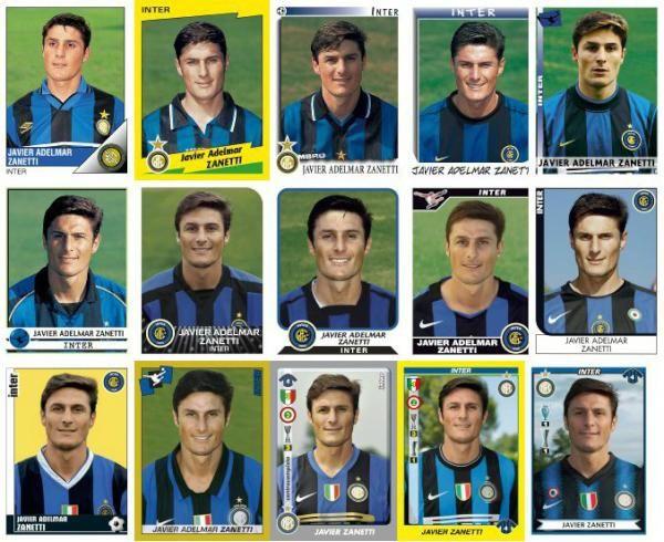 Panini stickers through the years