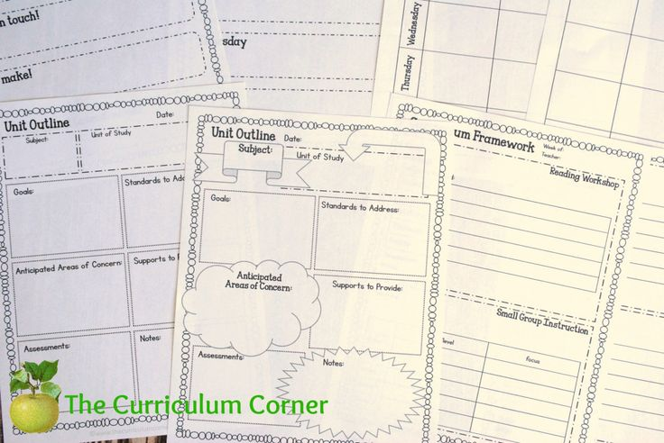 FREE! Editable teacher planning binder - 66 pages! Free from The Curriculum Corner