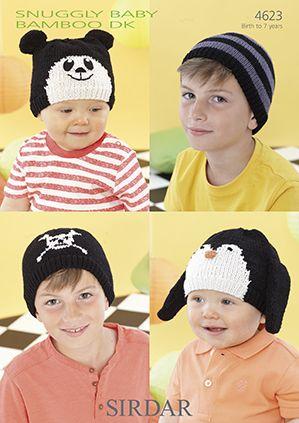 Wise Badger - Sirdar Baby Bamboo DK Fun Hats 4623, £2.99 (http://www.wisebadger.com/sirdar-baby-bamboo-dk-fun-hats-4623/)