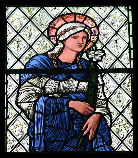 Burne Jones window - Harris Manchester College, Oxford