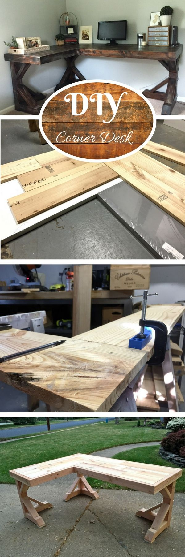 Check out the tutorial how to build a DIY corner desk @istandarddesign