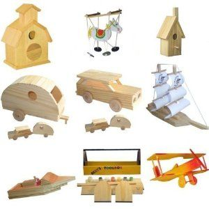 9 Assorted Wood Craft Kits For Kids By Brandine 29 99 Assembly