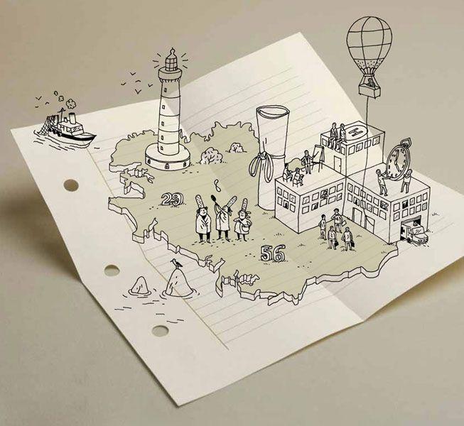 dessin sur feuille - Quentin Vijoux (France)