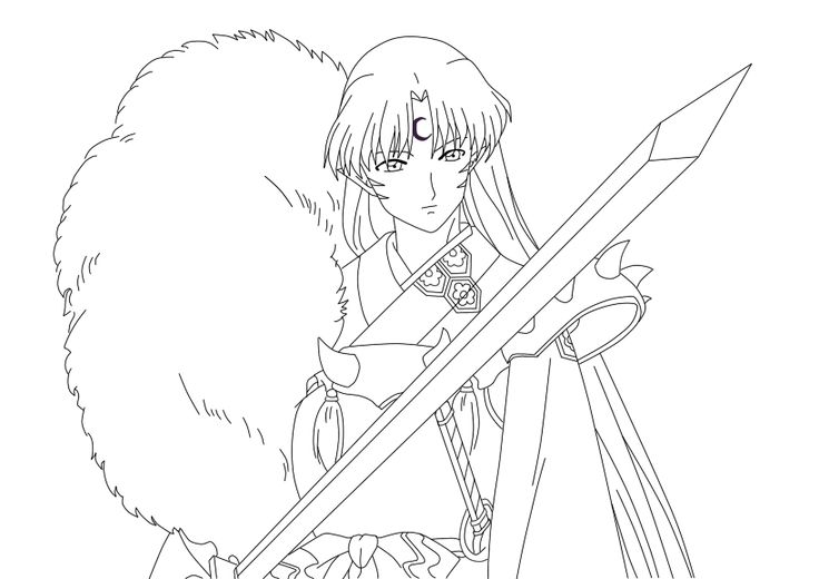 pin by linwe lossehelin on coloring pages pinterest inuyasha - Inuyasha Coloring Pages
