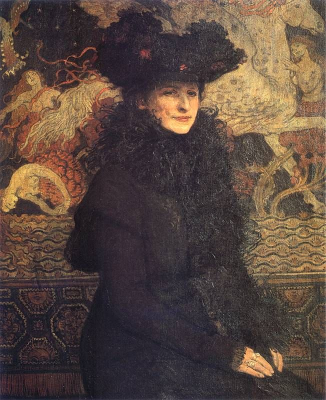 Józef Mehoffer - Portret żony artysty, 1913