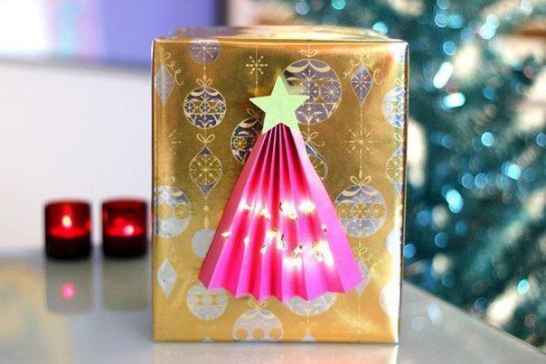 Новогодняя подарочная упаковка с елочкой 🎄 / Интересный космос