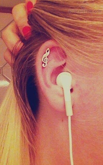 Music note #piercings