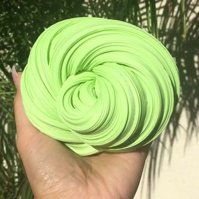 Green and bright slime
