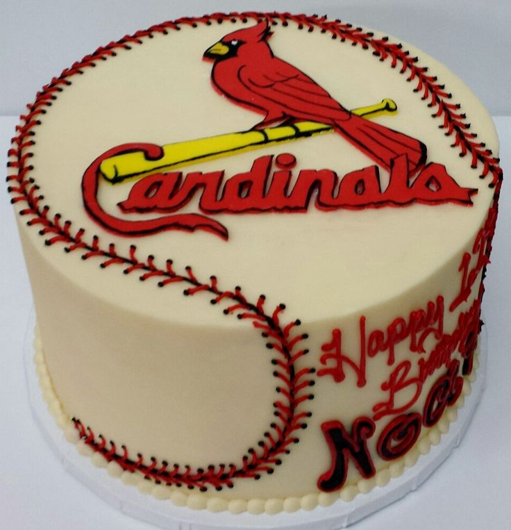 St Louis Cardinals Cake Www 3womendesserts Com 3wo