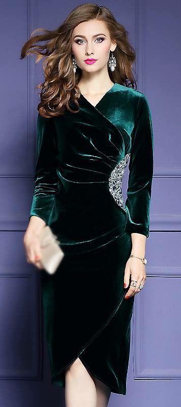 8a521de8ffd robe en velour pour femme