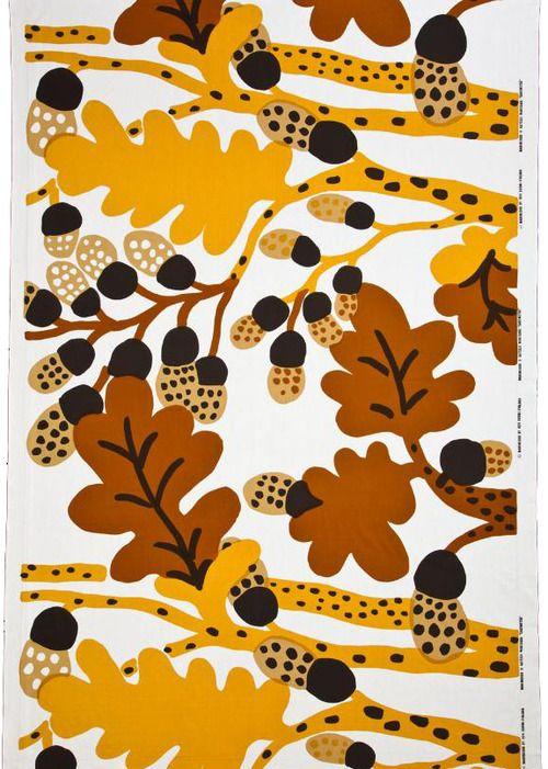 Katsuji Wakisaka, textile design Sademetsa for Marimekko, 1974.