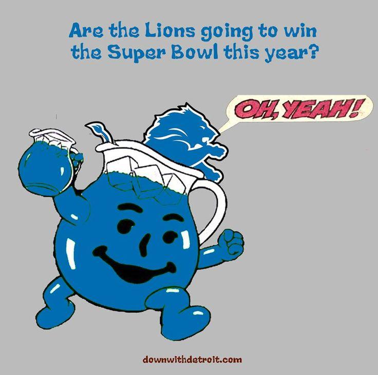 Image result for detroit lions kool aid super bowl