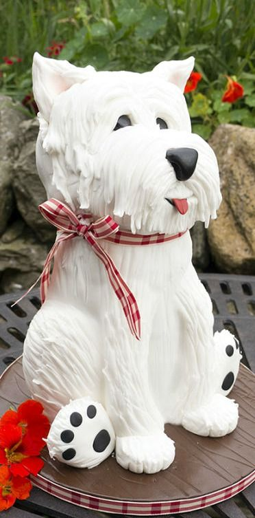 West Highland Terrier Dog Cake - For all your cake decorating supplies, please visit craftcompany.co.uk