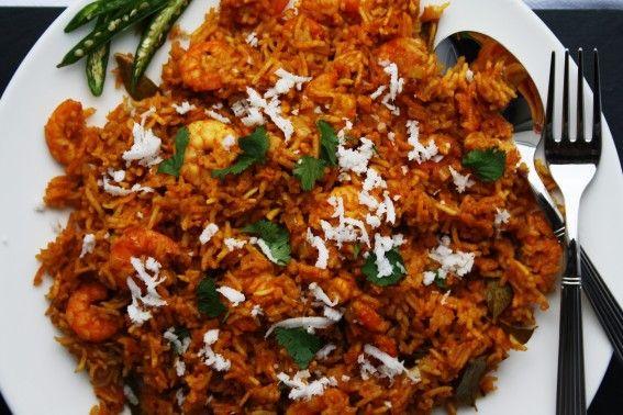 Marathi Kolambi Bhaat – Prawns cooked in spices and basmati rice February 6, 2014