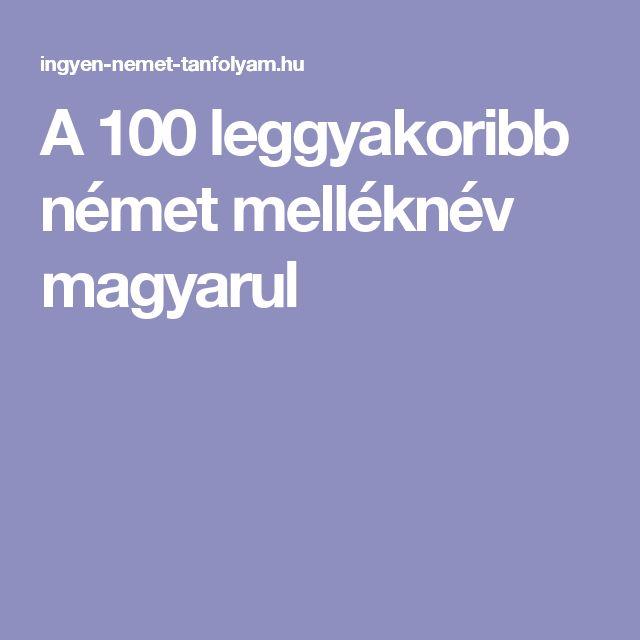 A 100 leggyakoribb német melléknév magyarul