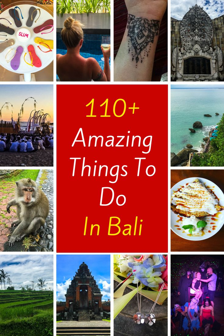 Planning an epic trip to Bali? My list of 110+ amazing things to do in Bali is the most comprehensive list of activities you will ever find. You need to read this now!