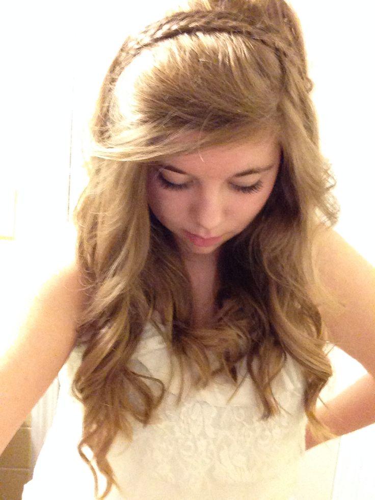headband braid with curls - photo #11