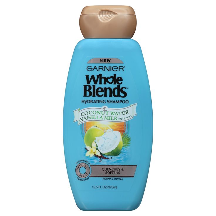 Garnier Whole Blends Coconut Water & Vanilla Milk Extracts Hydrating Shampoo - 12.5oz
