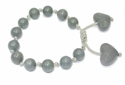 Lola Rose Jewellery - Shadow Quartz Effie Gemstone Bead Bracelet