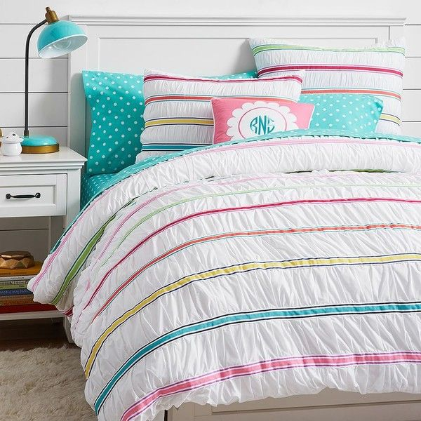 Pb Teen Rainbow Ribbon Duvet Cover Twin Multi 163 65