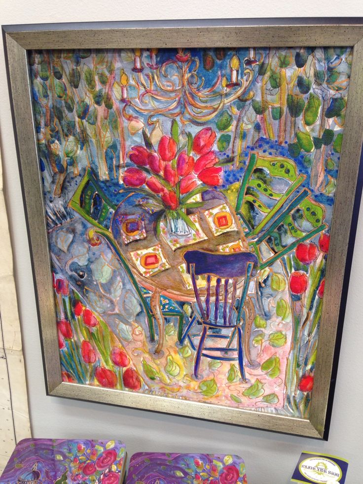 Celebrating spring Painting by artist Jill Louise Campbell