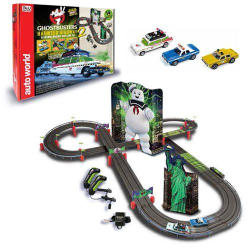 Ghostbusters 2016 Haunted Highway 2 Electric Racing Slot Car Playset