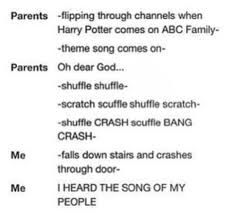 Image result for parents flipping through channels when Harry Potter comes on ABC