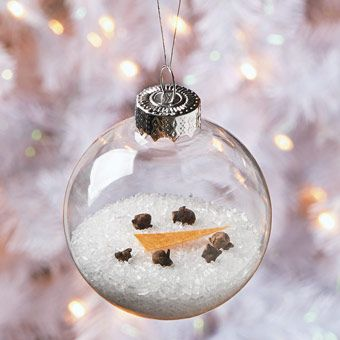 Epsom salt melted snowman ornament holiday fun for Clear ornament snowman craft