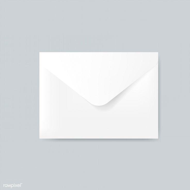 Download Premium Illustration Of Plain Paper Envelope Design Mockup Vector Mockup Design Envelope Design Vector Free
