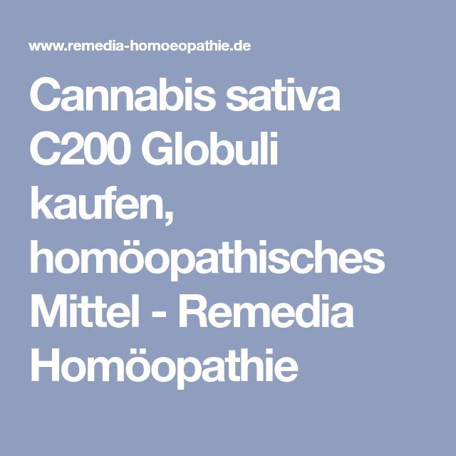 Cannabis sativa C200 Globuli kaufen, homöopathisches Mittel - Remedia Homöopathie
