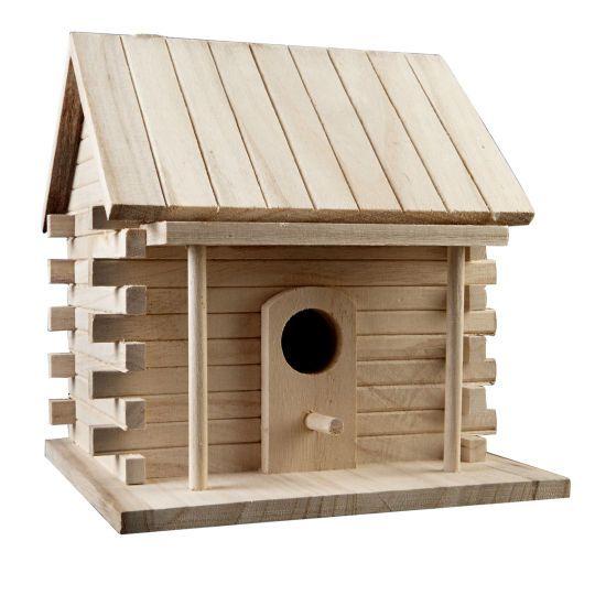 Art minds artminds log cabin birdhouse birdhouse log for Art minds wood crafts