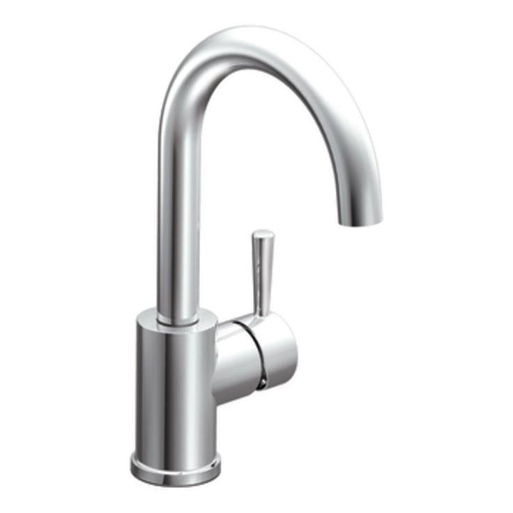 moen level single handle barprep faucet in chrome