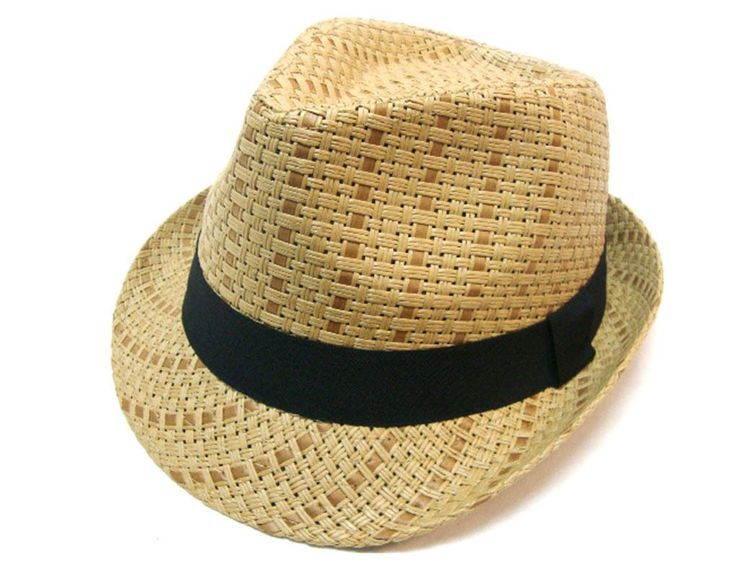 Amazon.com: Simplicity® Summer Sun Short Brim Straw Fedora Hat: Clothing