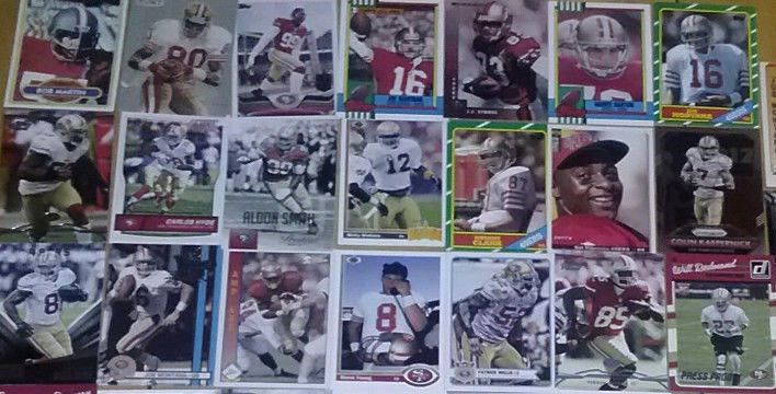 49 Forty Niner Football Card Lot Gore Montana Young Willis Rice Lott NFL 49ers  #SanFrancisco49ers
