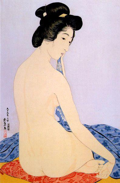 Woman After Bath by Hashiguchi Goyo, 1920. S)