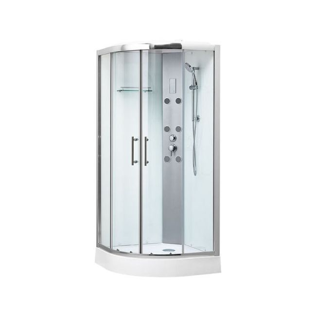 Kabina Prysznicowa Z Hydromasazem Cooke Lewis Marina 90 X 90 X 218 Cm Niski Brodzik Locker Storage Bathroom Medicine Cabinet Storage