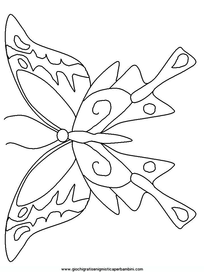 FARFALLA DA COLORARE | Disegni Di Farfalle 11 Da Colorare Animali Pictures to pin on ...